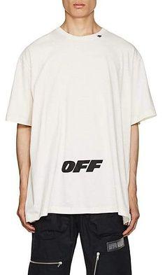 33fe2d728f60 Off-White Off - White c o Virgil Abloh Men s Logo Cotton Oversized T