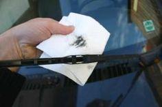 Auto Wischerblätter reinigen - darauf kommt es an.