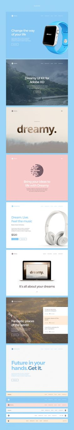 Saved by asduihaisugd sdiufhaiuf Discover more of the best Ui, Web, Design, Dreamy, and Kit inspiration on Designspiration Print Layout, Web Layout, Layout Design, Responsive Web Design, Ui Web, Concept Web, Ui Design Inspiration, Daily Inspiration, Adobe Xd