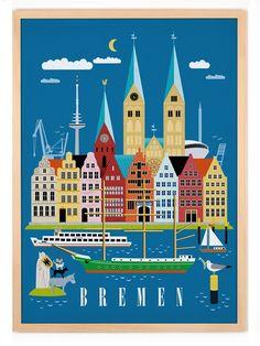 Human Empire Studio Bremen Poster 50x70cm