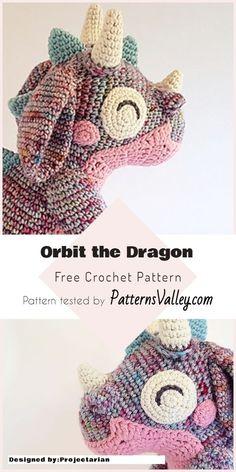 Amigurumi Orbit The Dragon - Free Crochet Pattern #amigurumi #crochettoys #dragon #crochetcal #freecrochetpatterns