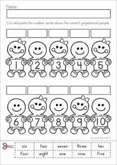 number words worksheet for kindergarten - Google 검색