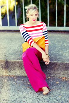 magenta and stripes