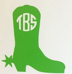 Cowboy Boot Monogram Decal by CountryCottageGC on Etsy