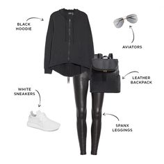 6 Ways to Style Spanx Faux Leather Leggings Leather Leggings Outfit, Spanx Faux Leather Leggings, Leather Trousers, Black Leggings, Sweaters And Leggings, Best Leggings, Fall Winter Outfits, Winter Fashion, Trendy Fashion