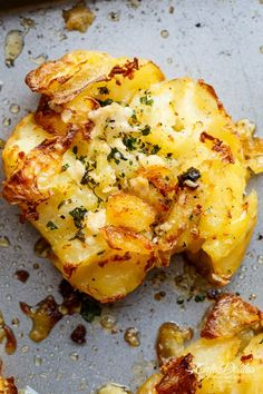 crispy garlic butter parmesan smashed potatoes crispy garlic butter ...