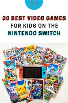 Check out this list of the 30 Best Video Games for Kids on the Nintendo Switch! These games have been kid-tested and parent-approved for value and gameplay. Games For Little Kids, Games For Boys, Video Games For Kids, Nintendo Switch Super Mario, Nintendo Switch System, Nintendo Games, Arcade Games, Nintendo Switch Games List, Pacman Games