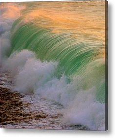 This shot of the shorebreak was captured at Waimea Bay on the beautiful North Shore of Oahu. This photo is very unique in the way that the wave has already broken and I loved the lines in the water and the orange color bouncing off the top of the wave. Waimea Bay, Hawaii Travel, Oahu Hawaii, North Shore Oahu, Pretty Pictures, Amazing Pictures, California Coast, South Pacific, Vacation Destinations