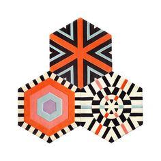 Mini Pyramid Carpet – Mix Pattern (3 piece Hexagon) By Kinder GROUND