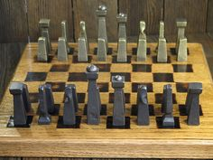Chess Set Blacksmith Made van EchoHillForge op Etsy