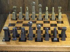 Chess Set Blacksmith Made van EchoHillForge op Etsy