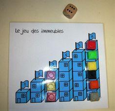 Jeux de dé Le jeu des immeubles et Le jeu de la chenille