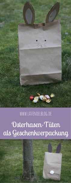 Die Osterhasen-Tüten sind eine süße Idee für das Osternest. Sie eignen sich als Geschenktüten. Über die Osterhasen-Geschenktüte freuen sich nicht nur Kinder, sondern auch Erwachsene.