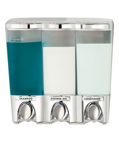 Look what I found on #zulily! Chrome Clear Choice Triple Dispenser by Better Living #zulilyfinds