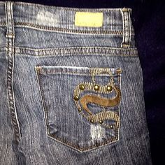 See-Thru-Soul-sz-28-US-Straight-Leg-Distresed-Med-Blue-Stretch-BAD-A-JEANS