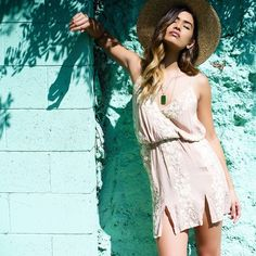embroidery slip dress by Blue Life | PLANET BLUE