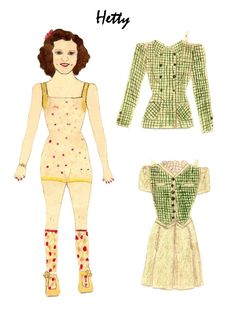 Photo in Karen`s Collection of Homemade Vintage Paper Dolls. - Google Photos