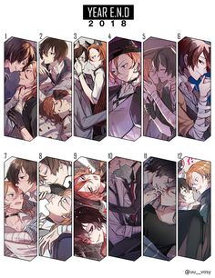 Osamu Dazai x Chuuya Nakahara calendar Dazai Bungou Stray Dogs, Stray Dogs Anime, Bleach Anime, Fandom, Manga Drawing, Anime Ships, Yandere, Cool Artwork, Cute Art