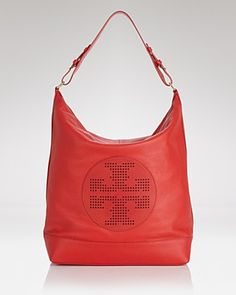 Tory Burch Hobo - Kipp Tory Red | Bloomingdale's