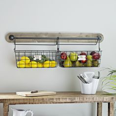 Fruit bowls can take up so much space, but these wall baskets get the job done without taking up any room! The hooks provide easy access, so you can move them when you need to. It's a win win!