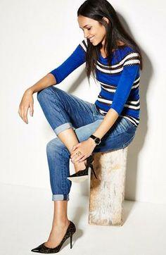 Casual Style: Stripe Top & Paige Denim Jeans