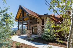 5 bed, 5 bath mining-style rustic architecture in Durango, Colorado. Designed and built by Kogan Builders.