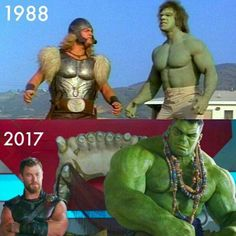 Hulk is like Fire.. Thor is like water