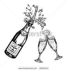 Image result for champagne sketch