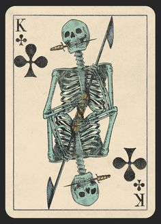 A Deck of Skeletons. Vintage Playing Cards. by Mike Willcox — Kickstarter