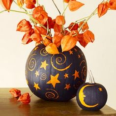 love the idea of putting leaves in a fake pumpkin and re-using every year!