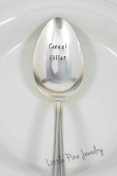 Cereal Killer spoon by Little Pine Jewelry
