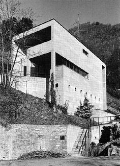 House by Snozzi Arch Architecture, Japanese Architecture, Luigi Snozzi, Architectural Engineering, Building Drawing, Archi Design, Alvar Aalto, Concrete Blocks, Less Is More