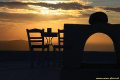 Coucher de soleil a Firostefani - Santorin - Grece