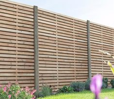 This Double Slatted Panel from Forest is a solid yet stylish panel with a up to date look. It will give a modern feel to boundary fencing and will revamp any garden. The panel features slats mounted alternately on the front and back of the panel. Cheap Fence Panels, Slatted Fence Panels, Wooden Fence Panels, Wooden Slats, Cheap Privacy Fence, Wooden Fences, Privacy Fence Screen, Privacy Walls, Contemporary Fence Panels
