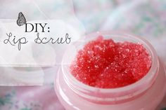 diy lip scrub.