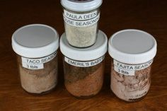 Lots of seasoning mix recipes including Paula Deen's House Seasoning and Emeril's Baby Bam