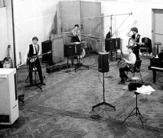 And speaking of those 4 young musicians from Liverpool.  Abbey Road Studio 2, London, 25, Feb, '64.  Finishing Can't Buy Me Love (Started at EMI's studio in Paris, France), and also recording/finishing it's B-Side: You Can't Do That. Featuring George Harrison's brand new 12-string Rickenbacker 360-12 guitar.