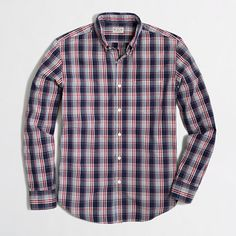 JCrew Factory - Factory washed shirt in double-color check
