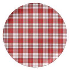 Menzies Tartan Plaid Plate