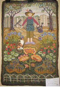 POSIE'S GARDEN ~ Designed and hooked by Susanne McNally, a Celebration XIX winner.