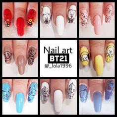 Bts Love Yourself Nail Art Floral Nail Art DesignsBack To Bts Love Yourself Nail ArtBts Love Yourself Nail Art Fading Nail Art Designs, Bts. K Pop Nails, Hair And Nails, Gel Nails, Manicure, Nail Polish, Cute Acrylic Nails, Cute Nails, Pretty Nails, Korean Nail Art