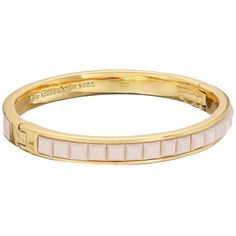 Kate Spade New York Neapolitan Bangle (130 CAD) ❤ liked on Polyvore featuring jewelry, bracelets, blush, hinged bracelet, bangle bracelet, hinged bangle, bangle jewelry and magnetic jewelry