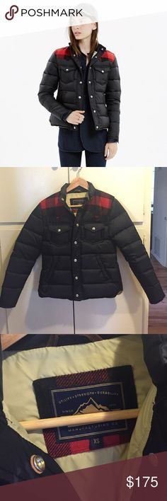 Madewell X Penfield Rockford Down Jacket Excellent condition. Lightly worn three times. Super warm and cozy with flannel plaid yoke. Love it to death but I have to be real that I never wear it in Los Angeles! Madewell Jackets & Coats Puffers