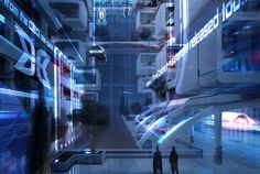 mass effect omega concept art | My guesstimation: the Citadel. Buildings look clean, so I'm assuming ...
