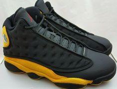 a9d4faeeb736 Nike Air Jordan 13 Retro Melo Class of 2002 Black Yellow 414571-035 Size  10.5