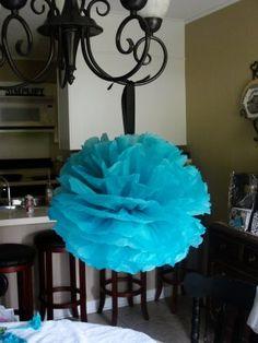 Tissue paper pom poms!!  Love these!