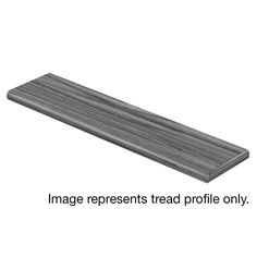 Cap A Tread Rustic Oak 47 in. Length x 12-1/8 in. Deep x 1-11/16 in. Height Laminate Right Return to Cover Stairs 1 in. Thick, Dark