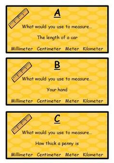 Here's a set of task cards for a metric measurement scavenger hunt.