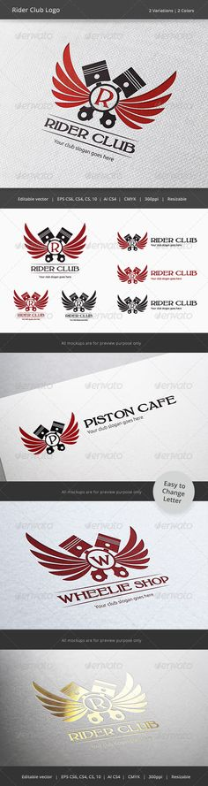Rider Driver Club Crest Logo — Vector EPS #cafe #team • Available here → https://graphicriver.net/item/rider-driver-club-crest-logo/6076022?ref=pxcr