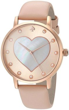 Kate Spade Women's 'Metro' Quartz Stainless Steel and Leather Casual Watch, Color:Brown (Model: KSW1254)